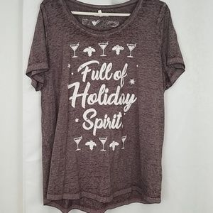 NWT Maurice's Full Of Holiday Spirit Tee Size 1X